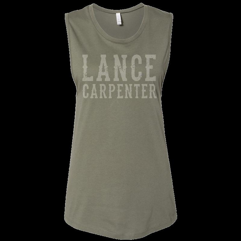 Lance Carpenter Ladies Military Green Muscle Tank