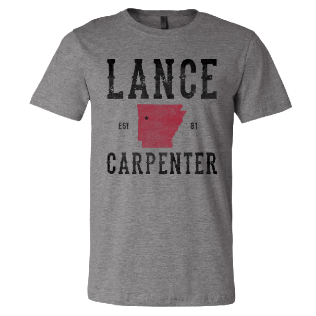 Lance Carpenter Deep Heather Arkansas Tee