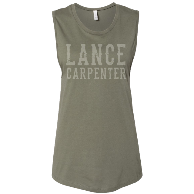 Lance Carpenter Ladies Military Green Muscle Tank