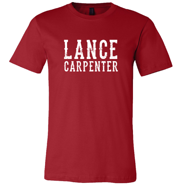 Lance Carpenter Red Logo Tee